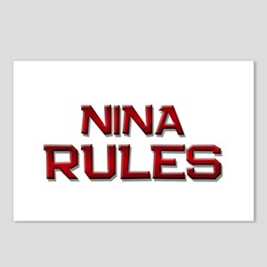 nina rules Postcards (Package of 8)