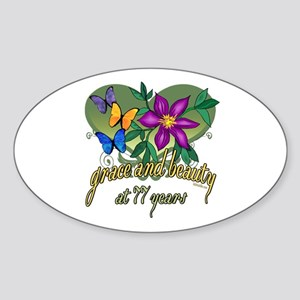 77th Birthday Grace Sticker (Oval)