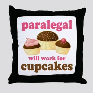 Funny Paralegal Throw Pillow