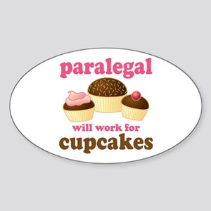 Funny Paralegal Oval Sticker