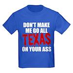 Texas Baseball Kids Dark T-Shirt