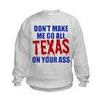 Texas Baseball Kids Sweatshirt