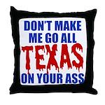 Texas Baseball Throw Pillow