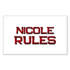 nicole rules Rectangle Decal