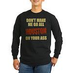 Houston Baseball Long Sleeve Dark T-Shirt