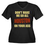Houston Baseball Women's Plus Size V-Neck Dark T-S
