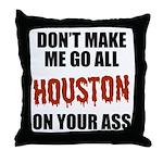 Houston Baseball Throw Pillow