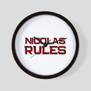 nicolas rules Wall Clock