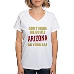 Arizona Baseball Women's V-Neck T-Shirt