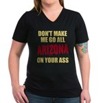 Arizona Baseball Women's V-Neck Dark T-Shirt