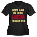 Arizona Baseball Women's Plus Size V-Neck Dark T-S