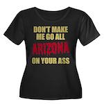 Arizona Baseball Women's Plus Size Scoop Neck Dark