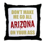 Arizona Baseball Throw Pillow