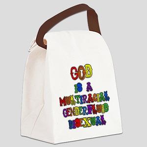 God is a Multiracial Genderfluid Bisexual Canvas L