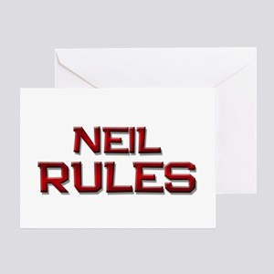 neil rules Greeting Card