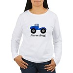 Farm Boy Tractor Women's Long Sleeve T-Shirt