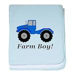 Farm Boy Tractor baby blanket
