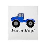 Farm Boy Tractor Throw Blanket