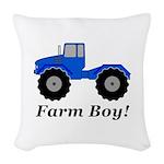 Farm Boy Tractor Woven Throw Pillow