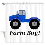 Farm Boy Tractor Shower Curtain