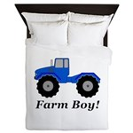 Farm Boy Tractor Queen Duvet