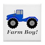 Farm Boy Tractor Tile Coaster