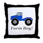 Farm Boy Tractor Throw Pillow