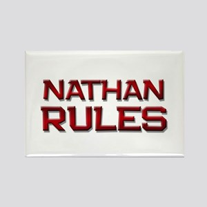 nathan rules Rectangle Magnet