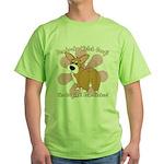 Corgi Bum Green T-Shirt