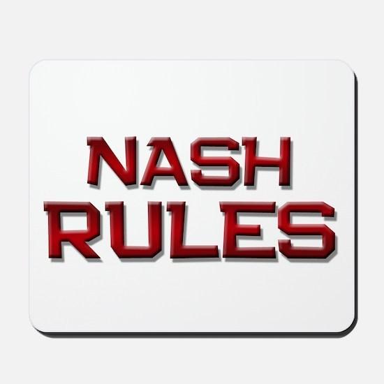 nash rules Mousepad