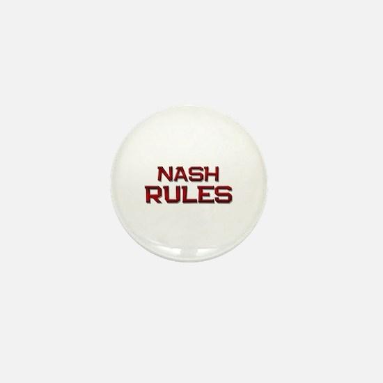 nash rules Mini Button