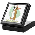 Corgi Begging Keepsake Box