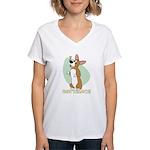 Corgi Begging Women's V-Neck T-Shirt