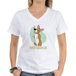 Corgi Begging Women's V-Neck T-Shirt