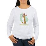 Corgi Begging Women's Long Sleeve T-Shirt