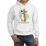 Corgi Begging Hooded Sweatshirt