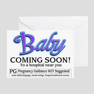 Baby - Coming Soon! Greeting Card