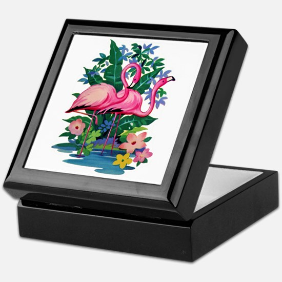 RETRO FLAMINGO Keepsake Box