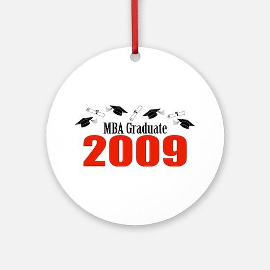 MBA Graduate 2009 (Red Caps And Diplomas) Ornament