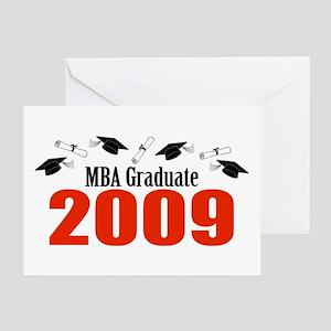MBA Graduate 2009 (Red Caps And Diplomas) Greeting