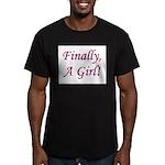 Finally, A Girl! Men's Fitted T-Shirt (dark)