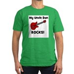 My Uncle Dan Rocks! Men's Fitted T-Shirt (dark)