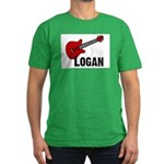 Guitar - Logan Men's Fitted T-Shirt (dark)