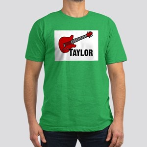 Guitar - Taylor Men's Fitted T-Shirt (dark)