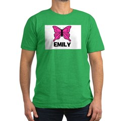 Butterfly - Emily Men's Fitted T-Shirt (dark)