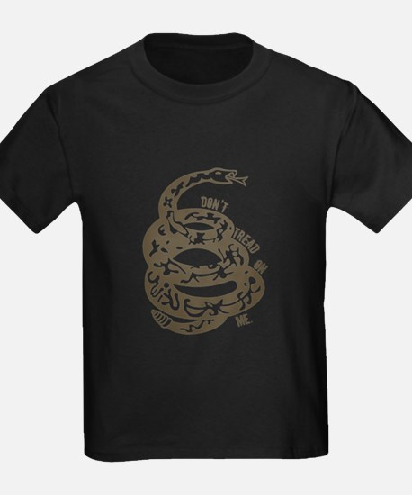 Dont Tread Snake Brown T