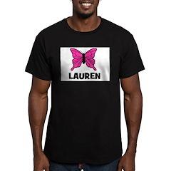 Butterfly - Lauren Men's Fitted T-Shirt (dark)