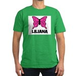 Liliana - Butterfly Men's Fitted T-Shirt (dark)