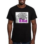 Ella - Elephant Men's Fitted T-Shirt (dark)