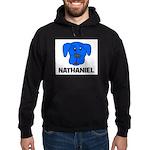 Nathaniel Puppy Dog Gift Hoodie (dark)